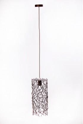 Светильник подвесной BARREL RANDOM 400 темно-серый