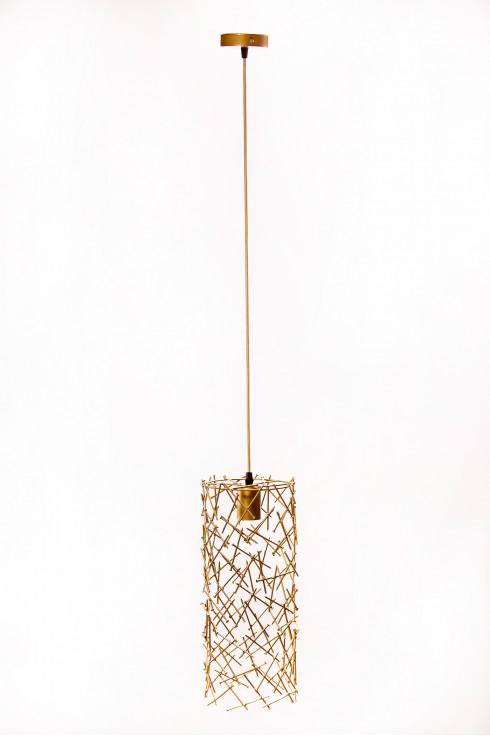 Светильник подвесной BARREL RANDOM 400 золотой