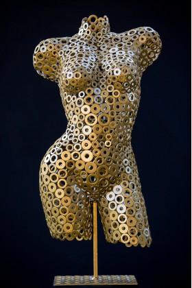 Манекен женский арт - деко из металлических шайб Alabama 00505А
