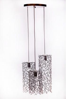 Светильник подвесной TRIPPLE серебряный