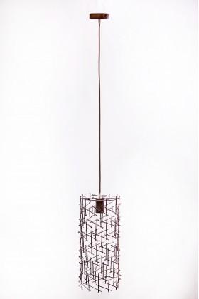 Светильник подвесной BARREL 400 серебряный