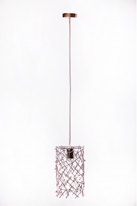 Светильник подвесной BARREL RANDOM 300 серебряный