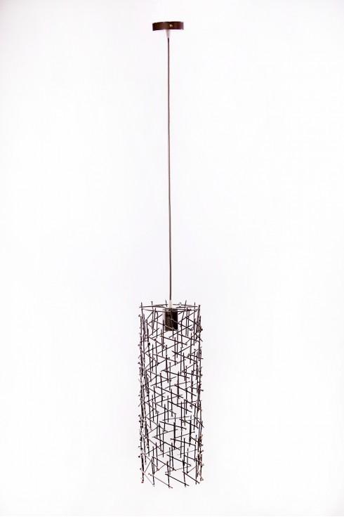 Светильник подвесной BARREL 500 темно-серый